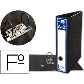 Pasta arquivo liderpapel classic blue cartao forrado folio gaspeada preta sem caixa