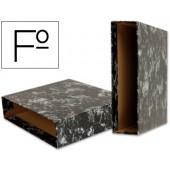 Caixa para pasta de arquivo gaspeada preta liderpapel folio