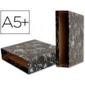 Caixa para pasta arquivo liderpapel cartao forrado quarto ao baixo gaspeado preto