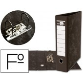 Pasta de arquivo gaspeada preta liderpapel folio
