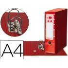 Pasta de arquivo liderpapel filing system cartao forrado a4 com caixa. vermelha