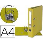 Pasta de arquivo liderpapel documenta pvc a4. 52 mm. amarela