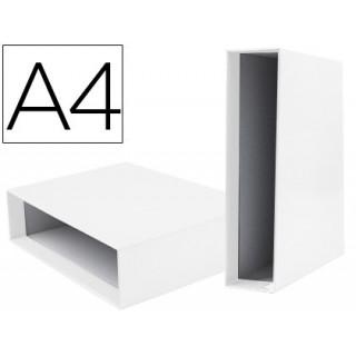 Caixa para pasta de arquivo liderpapel documenta lombada larga din-a4 branca