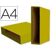 Caixa pasta arquivo liderpapel a4 color system amarelo