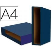 Caixa pasta arquivo liderpapel a4 color system azul