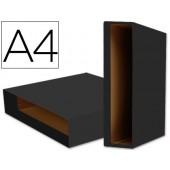 Caixa pasta arquivo liderpapel a4 color system preto
