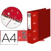 Pasta de arquivo de alavanca elba cartao forrado din a4 vermelho lombada de 75 mm rado com duplo mecanismo