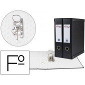 Modulo de 2 pastas de arquivo pardo 2 aneis de 70 mm folio cor preto 350x180x300 mm