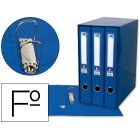 Modulo de 3 pastas de arquivo liderpapel 2 aneis folio lombada 60 mm azul