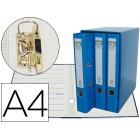 Modulo de 3 pastas de arquivo. elba. a4 lombada 50. azul