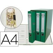 Modulo de 3 pastas de arquivo. elba. a4 lombada 50. verde