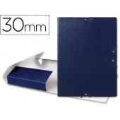 Capa elasticos para projectos lombada 3 cm azul