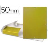 Capa elasticos para projectos lombada 5 cm amarela