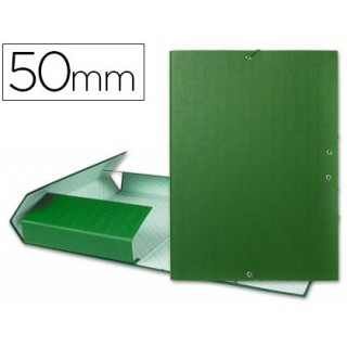 Pasta para projectos liderpapel. lombada 50mm. verde