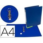 Pasta de arquivo liderpapel color system cartao forrado a4 2 aneis 25 mm mistos lombada de 40 mm sem caixa azul