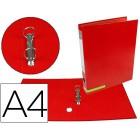 Pasta de arquivo liderpapel color system cartao forrado a4 2 aneis 25 mm mistos lombada de 40 mm sem caixa vermelha