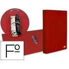 Capa de aneis paper coat forro pvc 2 aneis 25 mm vermelho