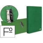 Capa de aneis paper coat forro pvc 2 aneis 25 mm verde