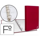 Capa liderpapel paper coat 4 aneis 25 mm forro pvc folio vermelho