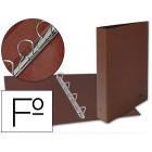 Pasta aneis liderpapel cartao forrado couro folio natural. lombada 40. 4 aneis