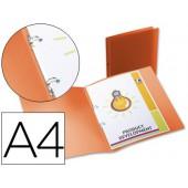 Pasta polipropileno liderpapel a4. 17 mm. laranja