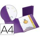 Pasta polipropileno liderpapel a4. 17 mm. violeta