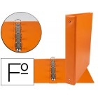 Pasta liderpapel 4 aneis 40 mm redondos plastico folio cor laranja