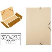 Pasta de elasticos liderpapel com abas em cartolina 350 grs. cor creme. medidas: 350x235 mm