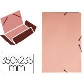 Pasta de elasticos liderpapel com abas em cartolina 350 grs. cor rosa medidas: 350x235 mm