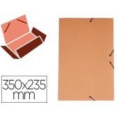 Pasta de elasticos liderpapel com abas em cartolina 350 grs. cor laranja medidas: 350x235 mm