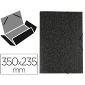 Pasta de elasticos liderpapel fibrete com abas medidas 350x235x25 mm