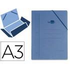 Pasta de elasticos liderpapel. a3. com abas. azul