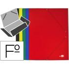 Pasta de elasticos liderpapel cartao plastificado com abas folio cores sortidas preto-vermelho-azul-verde-amarelo