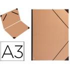 Carpeta planos clairefontaine din a3 con gomas kraft marron verjurado