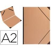 Carpeta planos clairefontaine din a2 con gomas kraft marron verjurado