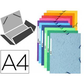 Pasta de elasticos exacompta din a4 3 abas cartolina ilustrada cores sortidas