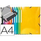 Pasta exacompta de elasticos din a4 3 abas cartolina cores sortidas