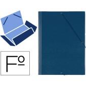 Pasta de elasticos com abas em plastico saro folio azul