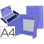 Pasta de elasticos polipropileno liderpapel. a4. azul