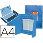Pasta de elasticos polipropileno liderpapel. a4. azul frosty