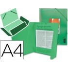 Pasta de elasticos polipropileno liderpapel. a4. verde frosty