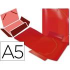 Pasta de elasticos em polipropileno liderpapel a5. vermelha