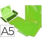 Pasta de elasticos em polipropileno liderpapel a5. verde