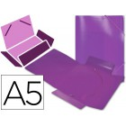 Pasta de elasticos em polipropileno liderpapel a5. violeta