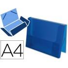 Pasta de elasticos beautone com lombada rigida. azul