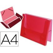 Pasta de elasticos beautone com lombada rigida. vermelho