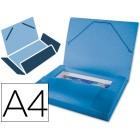 Pasta de elasticos beautone com lombada rigida a4. frosty azul