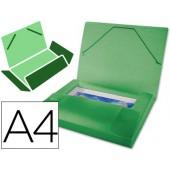 Pasta de elasticos beautone com lombada rigida a4. frosty verde