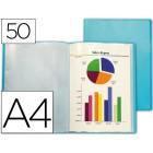 Capa catalogo liderpapel a4 com 50 bolsas azul