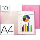Capa catalogo liderpapel a4 com 50 bolsas vermelho